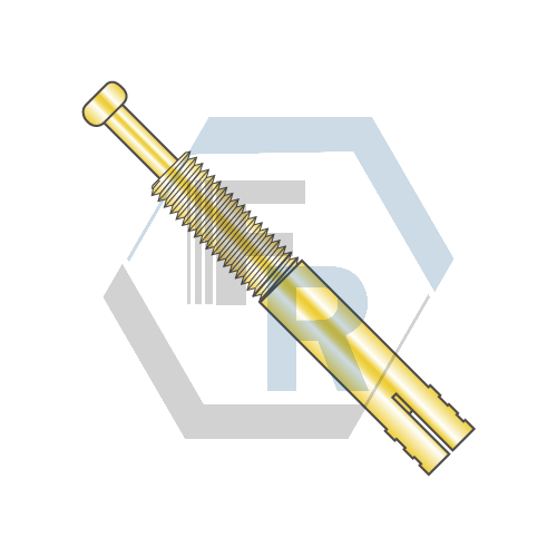 Expansion Pin, Zinc Yellow Anchor Icon