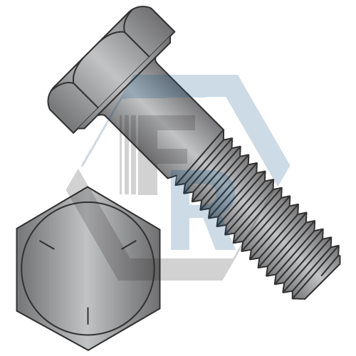 Grade 5 Steel Hex Head Cap Screws Coarse Thread Icon