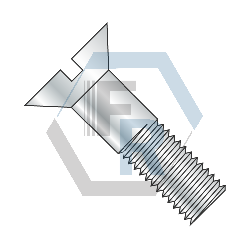 Cap, Flat Slotted Steel Zinc Icon