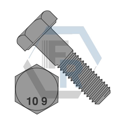 DIN 931 Class 10.9, Stl Pln Icon