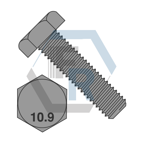 DIN 933 Cl 10.9 Full Thrd Stl Pln Icon
