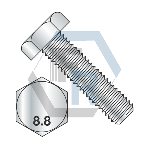 DIN 933 Cl 8.8 Full Thrd Stl Z Icon