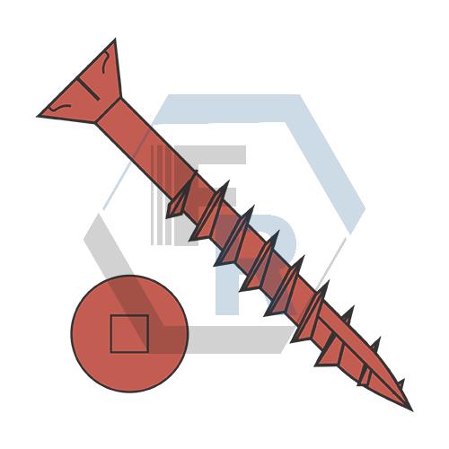 Type-17 pt, Stl Ceramic Red Finish, Partial Thrd Icon