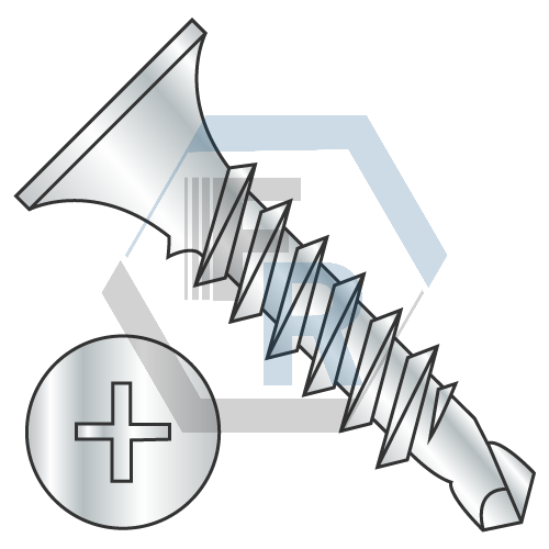 Drywall, Fine Thread, Steel Zinc Icon