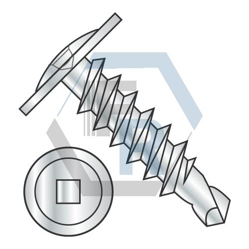 Square Recess, Steel Zinc icon