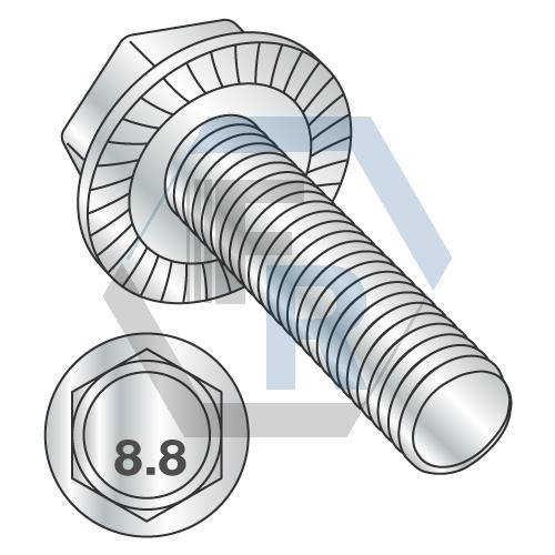 Class 8.8 w/Serrations Zinc ~DIN 6921 Icon