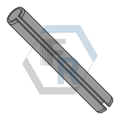 Slotted Spring Pins, METRIC Steel, Thermal Black Icon