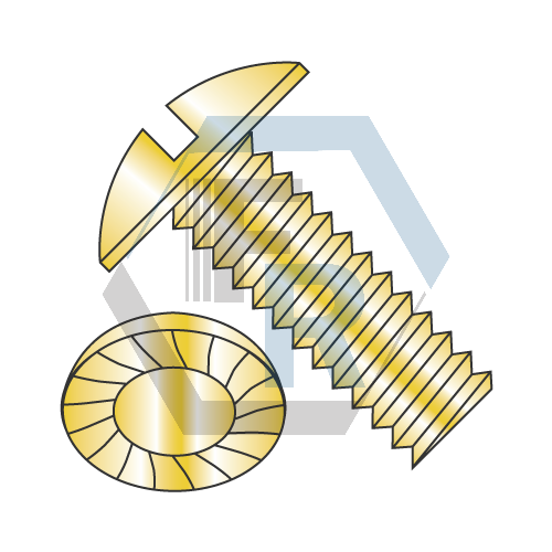 Slotted, Steel Zinc Yellow Icon