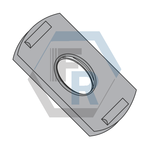Center Hole Ribbed Projection Icon
