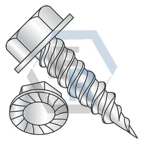 "Steel Zinc, 5/16"" A.F. w/Serrations--1000 Hr Rated icon"